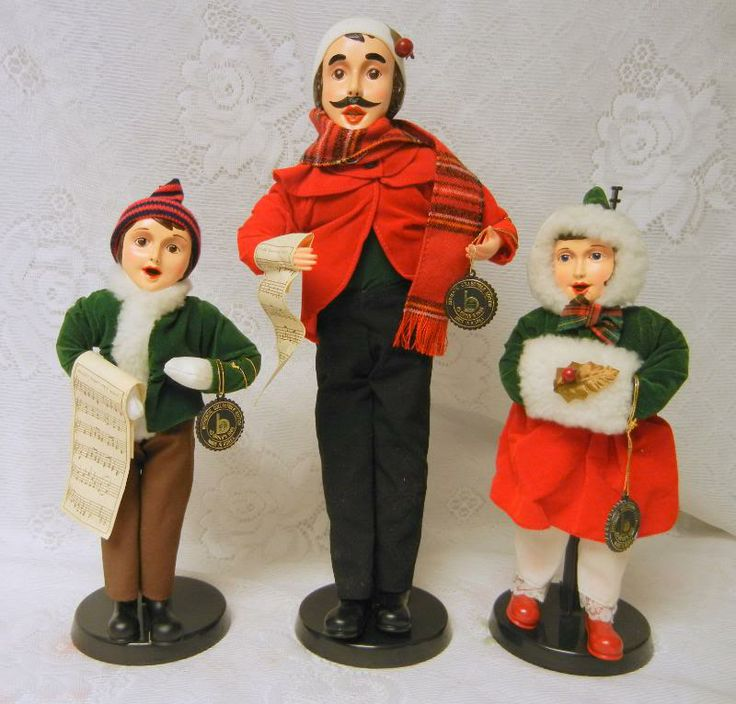 Singing Carolers Candleholders Figurines Vintage By: Details About Vintage Brinn's 1986 Collectible CHRISTMAS