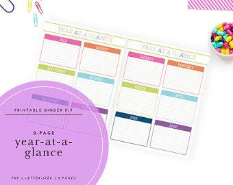 Printable 2019 Year-at-a-Glance Calendar