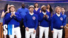 Bill Murray Joins Chicago Cubs Players to Sing 'Go Cubs Go' on SNL's Weekend Update
