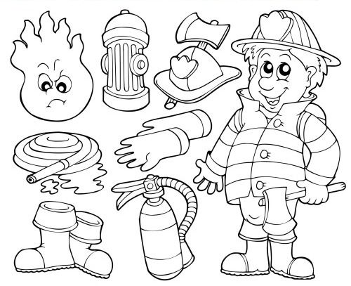 kids fire prevention coloring pages - photo#33