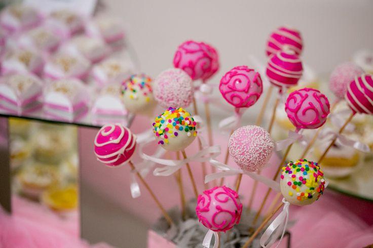 Cake pops de colores para niña!
