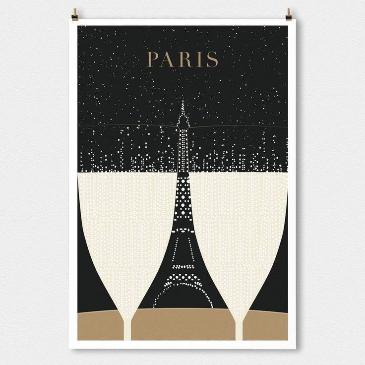 Paris Minimalist Matte Print by TPPS