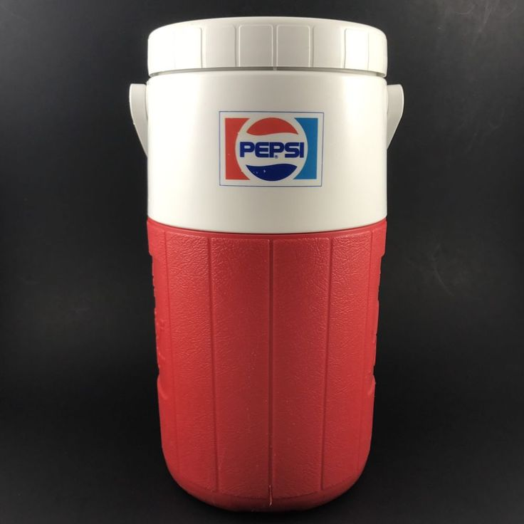Vtg 1980s COLEMAN Pizza Hut PEPSI Relief Pitcher INSULATED Mug w/ Handle COOLER  | eBay