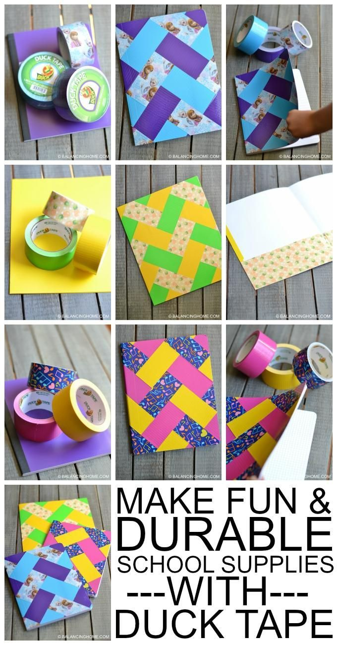 Make fun and durable school supplies with Duck Tape:
