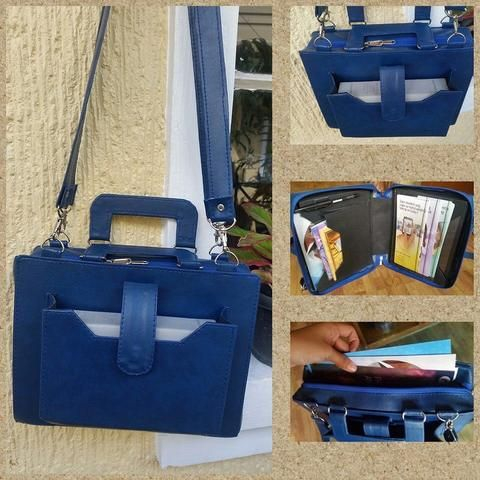 blue service bag