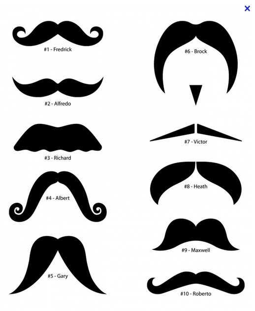 Moustache I M Thinking Of Naming My Groups Tables By