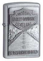 Zippo Harley Davidson Street Chrome, # 20229, New In Box