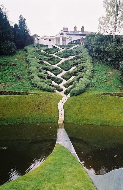 The Garden of Cosmic Speculation, designed by Charles Jencks in Portrack House near Dumfries. That's in Scotland, by the way!