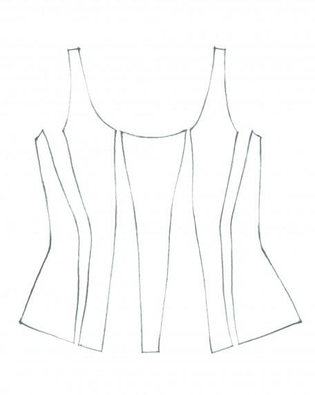 Desenho de um corset