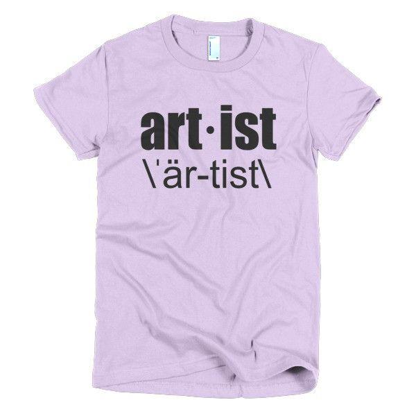 Artist Short Sleeve Women's T-Shirt
