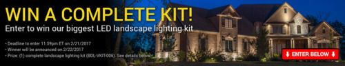 Win a LED Landscape Lighting Kit {US} (2/20/17) via... sweepstakes IFTTT reddit giveaways freebies contests