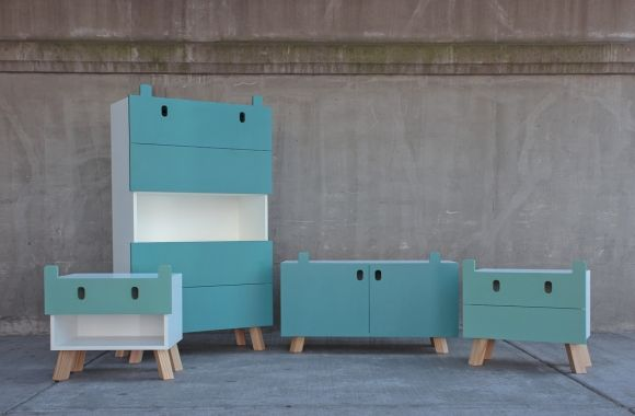"""The Mostros (monsters) collection designed by Oscar Nuñez is born from the idea that you can impart into a piece of furniture, aimed at children, a personality that can generate a playful relationship between user and object."""