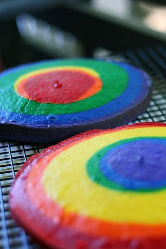 I think Liam's getting a rainbow cake for his birthday.
