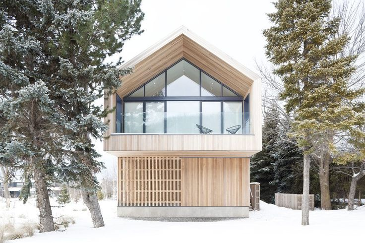 Gable roof modern exterior scandinavian with wood siding wood paneling wood siding