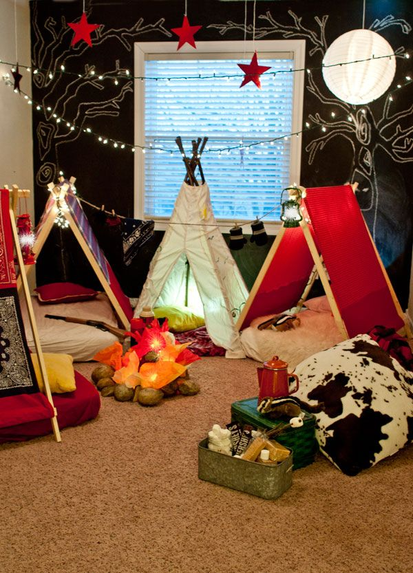Indoor campout-SO cute!! Here's what's in my head @O.B. Wellness Donoghue-Ransley !