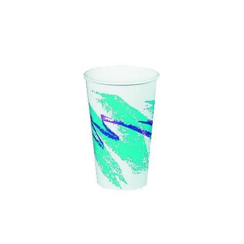 Solo 370JZJ Jazz Design Single Sided Poly Coated Paper Hot Cup, 10 oz Capacity, Case of 1000 by SOLO Cup Company. $68.99. Plastic lined. Heat-sealed seams and interlocked bottoms. Jazz® design. 50 cups per bag. 20 bags per case (1,000 cups).