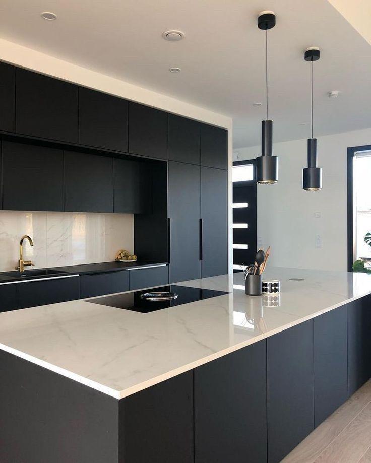 Contemporarykitchendesign Dekoration Ideen Einrichtungsideen In 2020 Modern Kitchen Design Matte Black Kitchen Stylish Kitchen