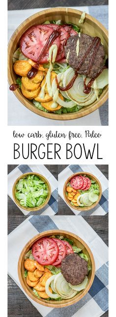 A low carb, gluten free, and Paleo burger bowl!