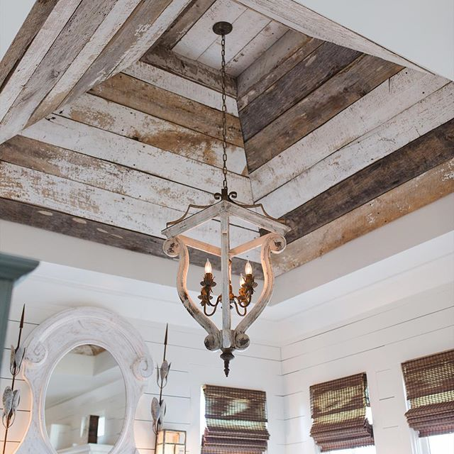 """This wood is reclaimed barnwood from a salvaged barn in Blue Ridge Georgia. We love to take something old and turn it into a piece or statement of wonder! Old and reclaimed is pure goodness."" - @chazeasterly"