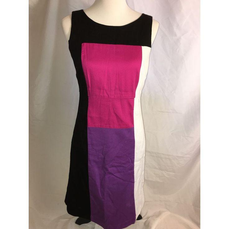 Sangria Color Block Dress Women 039 s Size 8 | eBay
