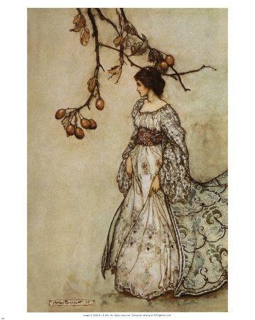 La fée ne semblait pas d'humeur à danser...  par Arthur Rackham