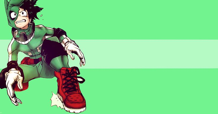 Render Midoriya Izuku With Green Vector