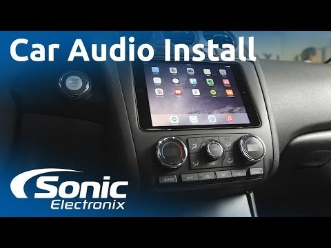 2012 Nissan Altima iPad Mini and Car Audio System Install | Custom Subwoofer Box | Sonic Electronix - YouTube