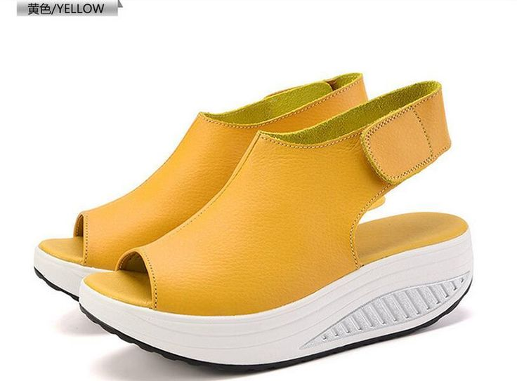 Summer Sandals Women Shoes Fashion Platform Wedges Sandals 2016 Fish Head Genuine Leather Sandals Weight Loss Sneakers Shoes Woman Sandals Sexy Shoes Sandels From Cd16888, $27.02| Dhgate.Com