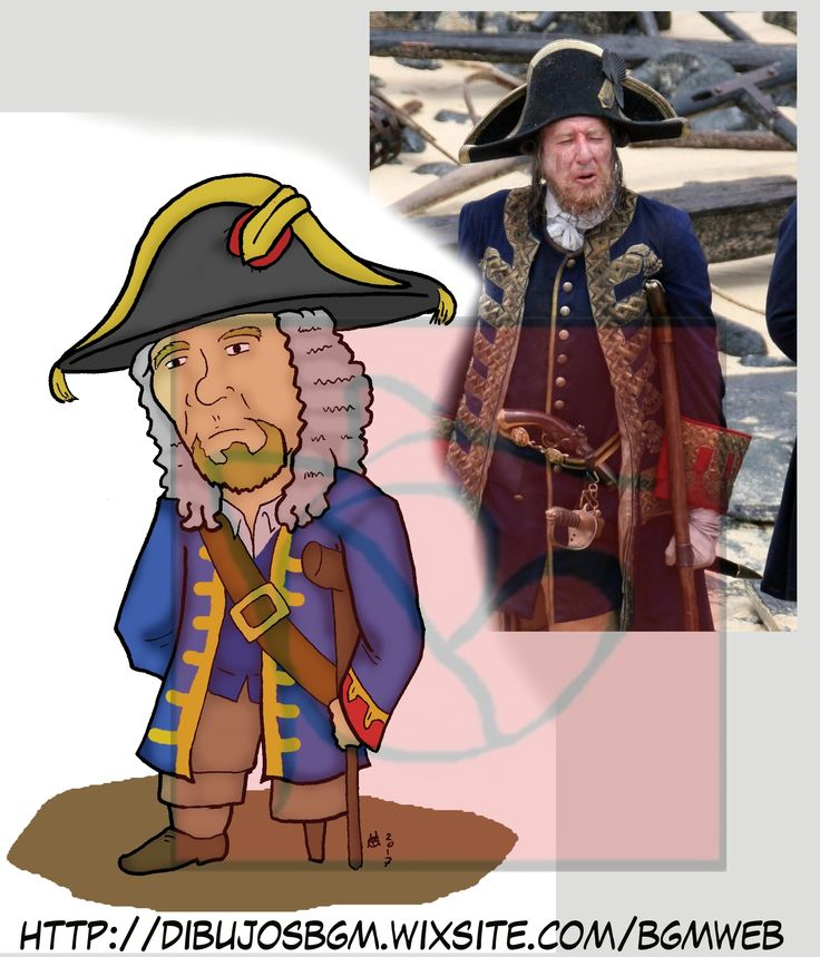 Barbosa Piratas del caribe Geoffrey Rush Pirates of the Caribbean