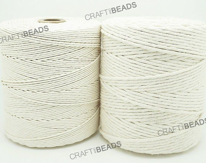 1mm 1 5mm 2mm 3mm 4mm 5mm Natural White Cotton Twisted Cord Etsy Macrame Patterns Macrame Cord Rope Crafts