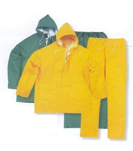 Trajes de agua poliester PVC modelo 304 de Planas. Vestuario impermeable formado por chaqueta y pantalón.     Más información: http://www.suministrosindustriales.nom.es/trajes_de_agua.html