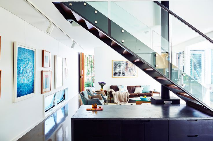 Staircase from affordable new build in Sydney's Northern Beaches by Saturday Studio. Photography: John Paul Urizar | Styling: Louise Bickle | Story: Australian House & Garden