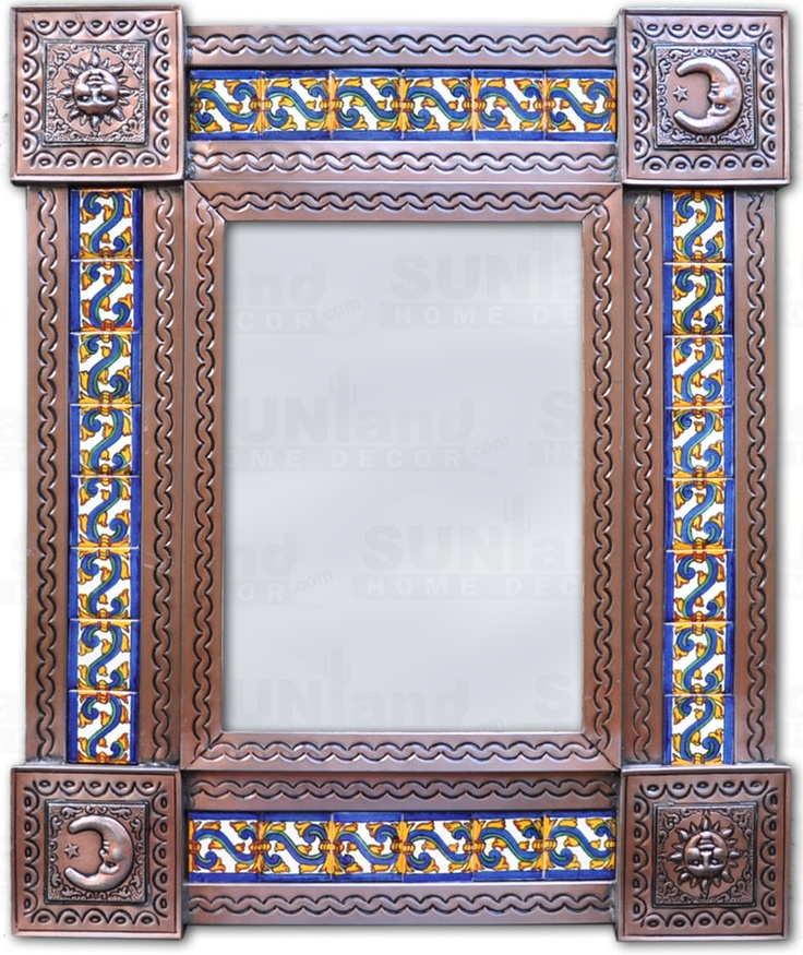 Mexican Tile Frame Mirror Mirror Mexican Ceramics