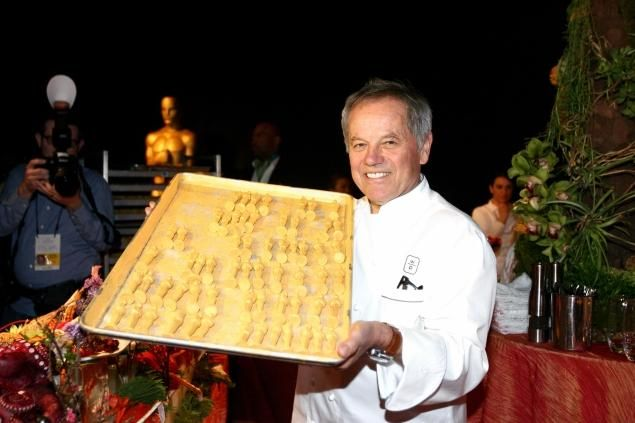After Oscar Party Food | Wolfgang Puck show off some of the many Oscar statue-shaped items that ...