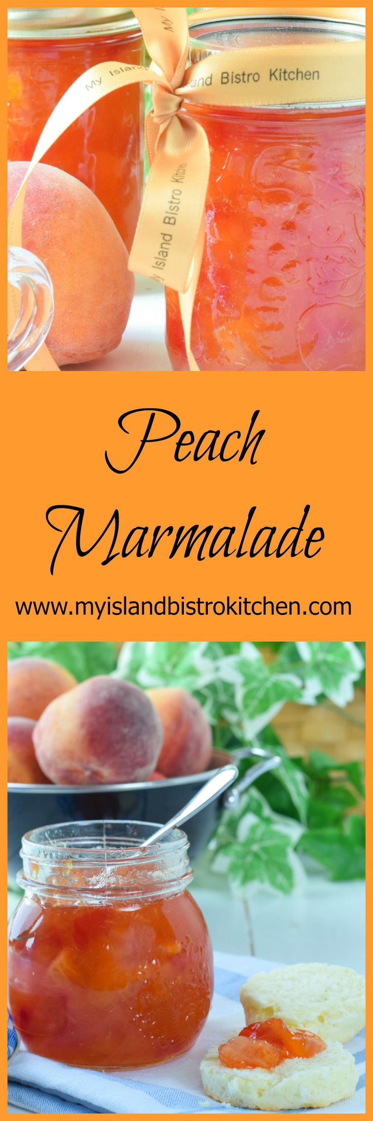 Delicious peach marmalade made with fresh peaches, orange, lemon, maraschino cherries, and a splash of Peach Schnapps. Serve on toast, biscuits, or scones.