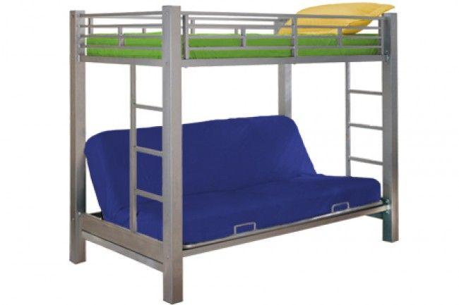 Cinnamon White Futon Bunk Bed Sofa Hybrid Optional Drawers And