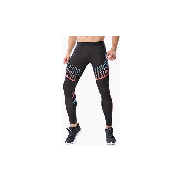 Quick Dry Sports Jogging Tights Gym Pants Bodybuilding Skinny Legging... ($17) ❤ liked on Polyvore featuring men's fashion, men's clothing, men's activewear, men's activewear pants, men athleisure bottoms, red, mens gym pants, mens activewear pants and mens activewear