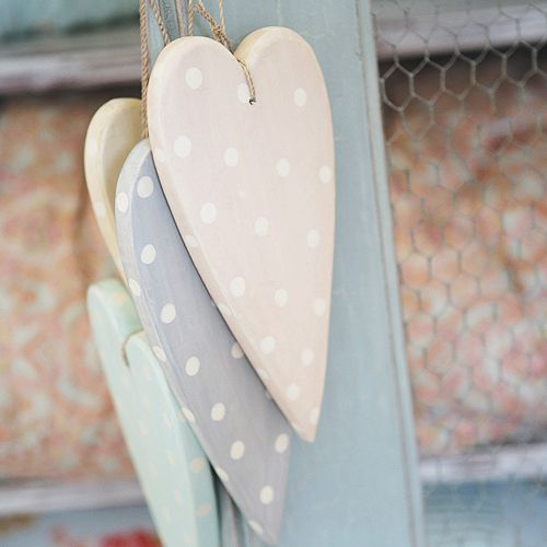 Large wooden hearts