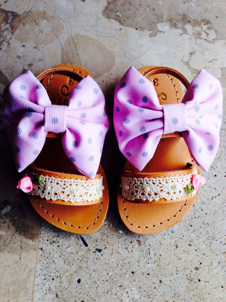 Handmade Greek Leather Sandals Kids