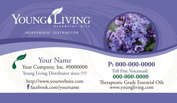 Premade Young Living Business Card Design by YLEssentials on Etsy ...