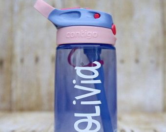 $10 personalized contigo kids water bottle from PaisleyGroveBoutique