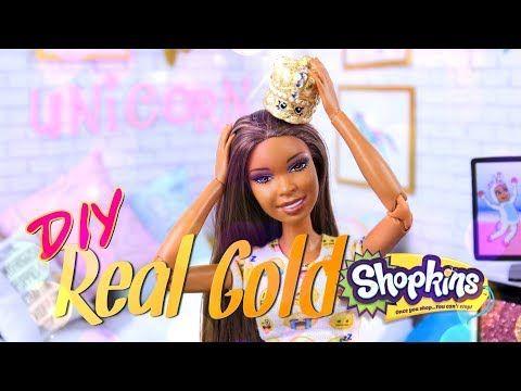 DIY - How to Make: CUSTOM Real Gold Shopkins Mini Figure - YouTube
