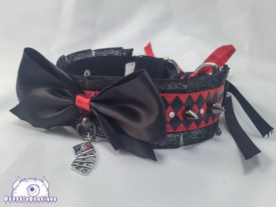 Adult Harley Quinn Inspired Jester Collar by TrishDobsonDesigns