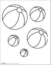 beach ball printables - Beach Ball Coloring Page Printable