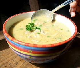 Thermomix - Creamy chicken and brown rice soup