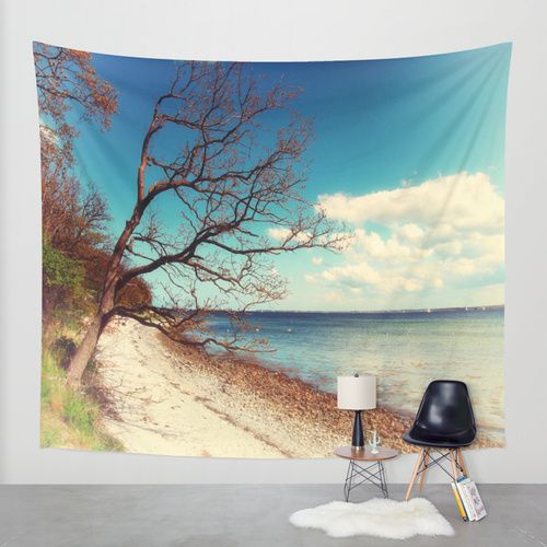 The Baltic coast Wall Tapestry by Tanja Riedel | Society6
