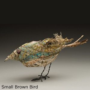 Beautiful animal sculptures with recycled fabrics. Nice.