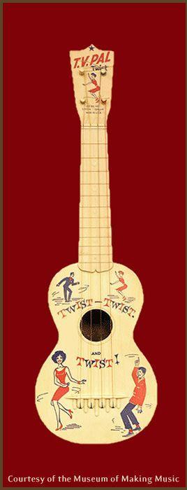 Maccaferri.Decorated TV Pal #LardysUkuleleOfTheDay #Ukulele ~ https://www.pinterest.com/lardyfatboy/lardys-ukulele-of-the-day/ ~