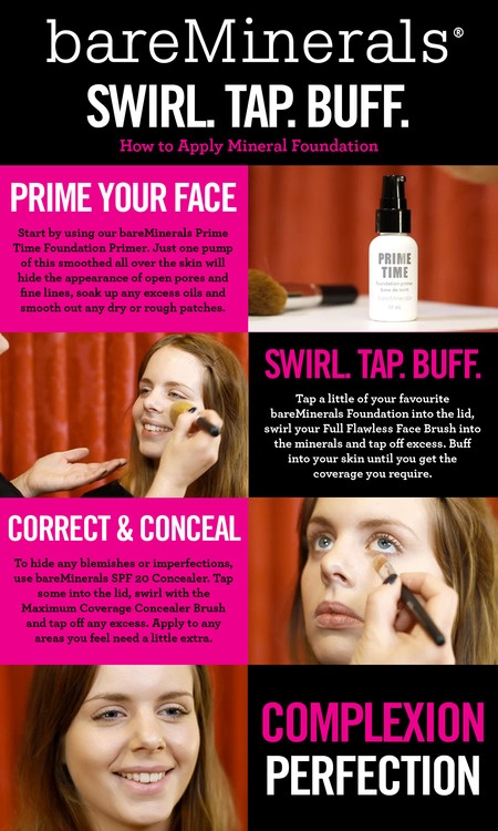 Here's our first bareMinerals How-To Guide. Great for powder foundations