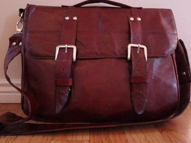do it yourself divas: DIY: Leather Messenger Bag for Men
